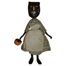Awesome primitive Halloween black cat