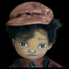 Adorable original Black cloth doll OOAK