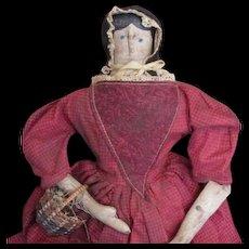 Wonderful primitive artist cloth doll