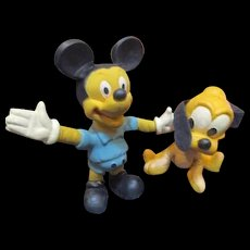 Mickey and Pluto bendy dolls by Disney