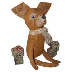 Primitive cloth painted original dog OOAK