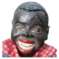 """What a infectious  smile 22"""" black boy doll"""