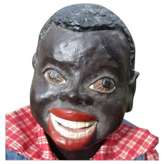 "What a infectious  smile 22"" black boy doll"