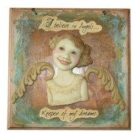 Angel sculpted bu Dianne Adams OOAK