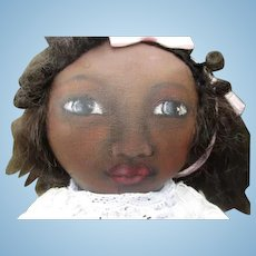 Adorable painted face artist  doll OOAK