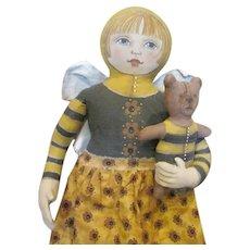 Stunning original doll Cart before the horses OOAK