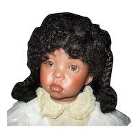 Beautiful Black bisque artist  doll