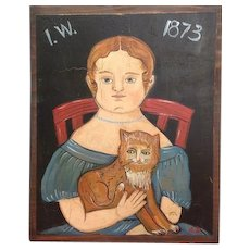 Izannah original painting by Alena Sinel of the old wooden sisters