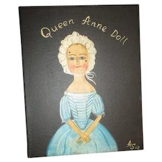 Queen Anne original painting by Alena Sinel of the old wooden sisters