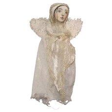 Angel with gorgeous painted face OOAK original by Karen Millstein
