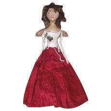 Wonderful cloth sculpted doll by Kathie Ruffner OOAK