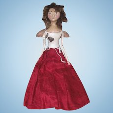 Wonderful cloth sculpted doll by Kathie Ruffner OOAK