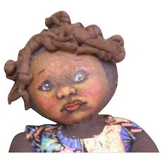 Adorable painted face cloth doll one of a kind