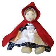 Adorable Red Riding Hood cloth doll
