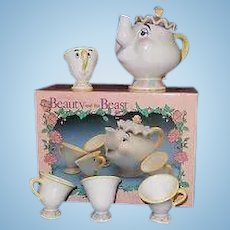 Disney Beauty and the Beast tea set for your doll MIB