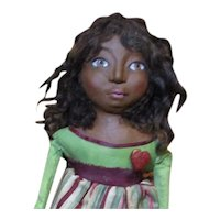 Little Lyla a sculpted Black doll by Jude Kapron OOAK original