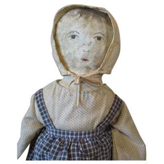 Perfectly primitive painted face artist doll