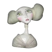 Doll bust original sculpted by Black eyed Susan OOAK