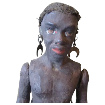 Antique Majestic Black warrior doll
