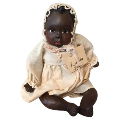 Offesa Cinematica Pantaloni  Adorable Black baby doll by Janada : Artistic Differences | Ruby Lane