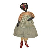 "Amazing 39"" artist black rag doll"