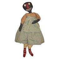 "Amazing 39"" artist black rag doll"