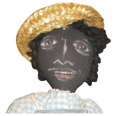 Captivating Folk art black hand painted doll