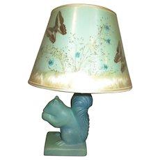 Wonderful Van Briggle Squirrel lamp all original