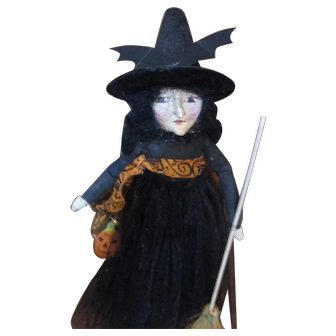 Sculpted primitive Witch by Jude Kapron OOAK