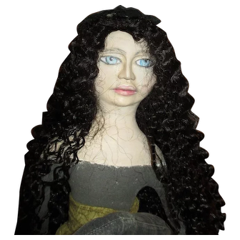 """Primitive 30"""" Witch sculpted by Jude Kapron OOAK"""