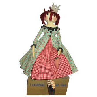 Adorable artist Raggedy Ann Princess doll