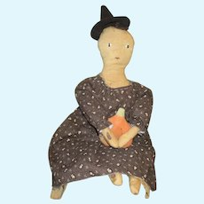 Great primitive artist doll OOAK