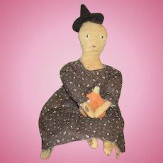 Great primitive artist doll OOAK