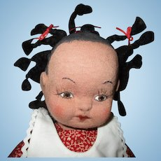 Sweetest Black original artist cloth doll.