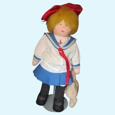Adorable cloth Sailor doll