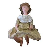 Primitive folk art cloth painted doll OOAK