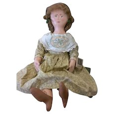 Primitive folk art cloth painted doll OOAK