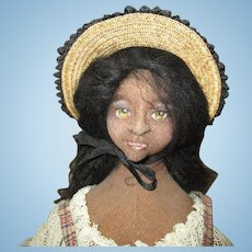Amazing black artist needle sculpted doll OOAK