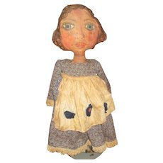 """Great 30"""" primitive painted cloth artist  Doll OOAK"""
