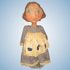 "Great 30"" primitive painted cloth artist  Doll OOAK"