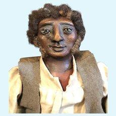 Primitive black  sculpted head original doll