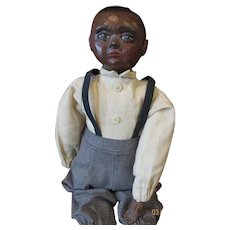 Adorable black boy doll by Sue Johnson