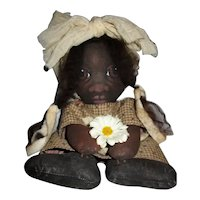 Darling original cloth painted Black doll~one of a kind