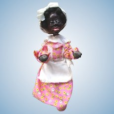 Wonderful sculpted face black doll  praying Mama OOAK