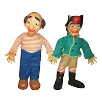 Wonderful Al Capp Mammy ans Pappy Yokum dolls