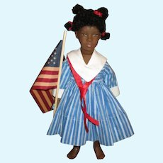 Sweet patriotic black doll