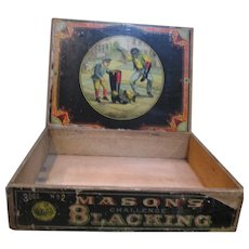 Antique Mason blackning box