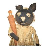 Adorable primitive artist bunny OOAK