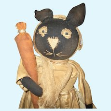 Adorable primitive artist bunny OOAK