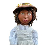 "Sweet 31"" Black sculpted doll by Jude Kapron OOAK"